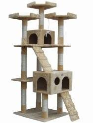 "Go Pet Club Cat Tree, 72"", Beige"