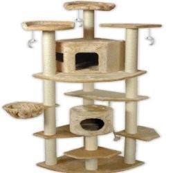 "Go Pet Club Cat Tree, 80"", Beige"