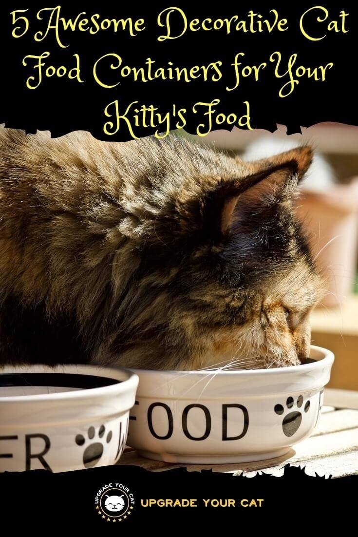 Decorative Cat Food Containers